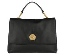 Liya Leather Satchel Bag Noir/Noir Satchel Bag