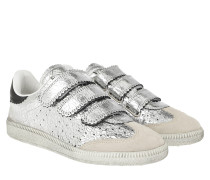 Beth Sneakers Leather Silver Sneakers