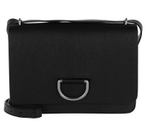 D-Ring Shoulder Bag Medium Leather Black Tasche