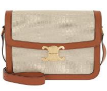 Umhängetasche Triomphe Bag Large Textile Calfskin Tan/White beige