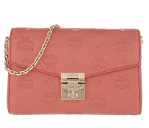 Millie Monogrammed Leather Crossbody Small Cocoa Tasche