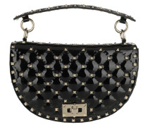 Umhängetasche Saddle Spike Crossbody Bag Patent Leather Black schwarz