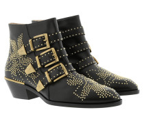 Susanna Leather Studs Boots Black/Gold Schuhe
