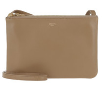 Umhängetasche Trio Handle Bag Leather Light Camel braun