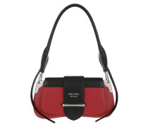 Satchel Bag Sidonie Shoulder Bag Leather Fire Engine Red/Black rot