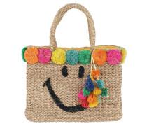 July Smiley Shopping Bag Natural