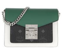 Umhängetasche Patricia Visetos Leather Block Crossbody Mini Black & Eden
