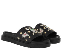 Schuhe Dipama Studs Slipper Black
