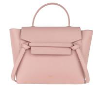 Satchel Bag Micro Belt Grained Leather Vintage Pink