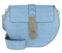 Umhängetasche Carousel Croco Crossbody Bag Drop blau