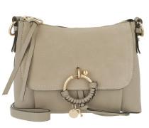 Umhängetasche Joan Grained Shoulder Bag Leather Motty Grey grau