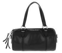 Bowling Bag Bandoleer Bag Soft Calf Leather Black schwarz