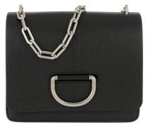 Umhängetasche The Small D-Bag Leather Black schwarz