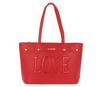Shopper Pebble Pu Love Shopper Rosso rot