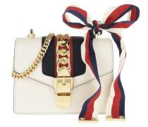 Umhängetasche Sylvie Mini Chain Bag Leather White weiß