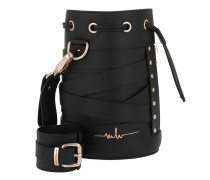 Kasper Stripes Bucket Bag 1 Black Beuteltasche