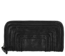 Leather Wallet Nero Portemonnaie
