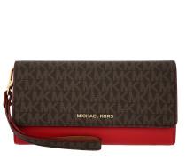 Mercer LG Wristlet Carryall Wallet Brown/Bright Red Portemonnaie rot