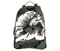 Animal Face Backpack Olive/Multi Rucksack braun