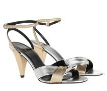 Sandalen Edwige Open Toe Leather Sandals Gold/Silver