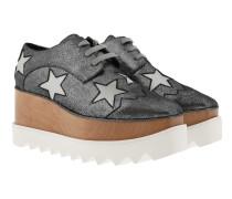 Elyse Platform Shoes Silver Grey Sneakers