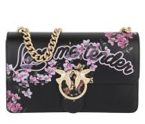Love Me Tender Flowers Shoulder Bag Nero Satchel Bag
