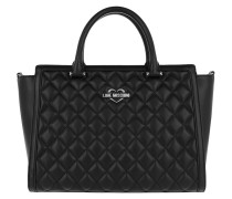 Quilted Nappa Handle Bag 2 Nero Tote