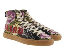 Florale Jacquard-High-Top-Sneakers Multicolor Sneakers