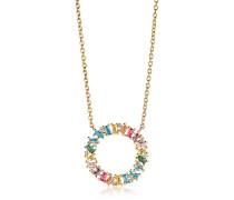 Halskette Antella Circolo Grande Necklace Multicoloured Zirconia 18K Gold Plated