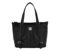 Signature Monogrammes Leather Tote Top Z Tote silber