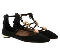 Ballerinas Pandora Flat Suede Black schwarz