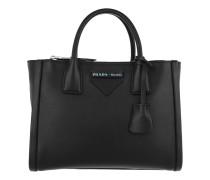 Mini Shopping Bag Leather Black Tote