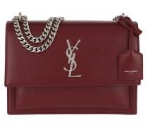 Medium Sunset Crossbody Bag Grained Leather Red Tasche