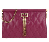 Pochette GEM Bag Medium Diamond-Pattern Quilted Leather Orchid pink