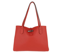 Tote Roseau Essential Tote Bag M Leather Red rot