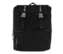 The Michael Bag LG Flap Backpack Black Rucksack