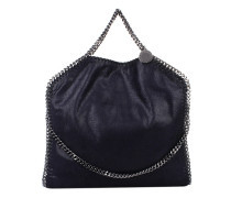 Falabella Shaggy Deer Fold Over Tote Navy Tote