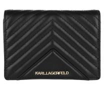Portemonnaie Klassik Quilted Fold Wallet Black/Gold