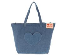 Shopper Heart Shopping Bag Denim Blu blau
