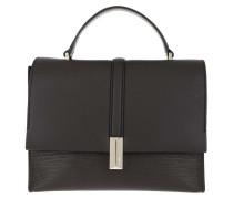 Satchel Bag Nathalie Top Handle Bag Dark Brown braun