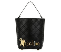 Bucket Bag Logo Checked Nero Beuteltasche