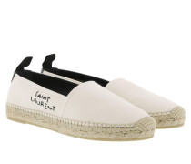Embroidered Logo Espadrilles Panna