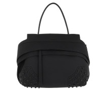 Shoulder Bag Wave Mini Gommino Miami Nero Hobo