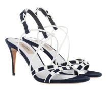 Free Rockstud Spike Sandals Leather Blue Sandalen