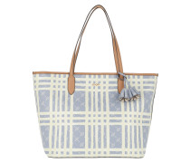 Shopper Cortina Cheque Lara Shopping Bag Lightblue blau