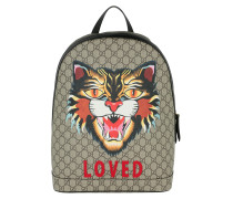 GG Angry Cat Supreme Backpack Brown Rucksack
