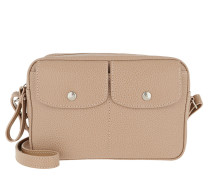 Umhängetasche Le Foulonné Crossbody Bag Leather Greige beige