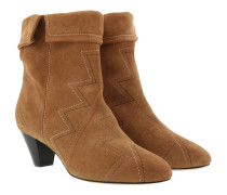 Dyna Ankle Boots Suede Terracotta Schuhe