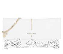 Patterned Fold Over Crossbody Bag White Tasche