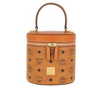 Satchel Bag Cylinder Visetos Small Crossbody Cognac